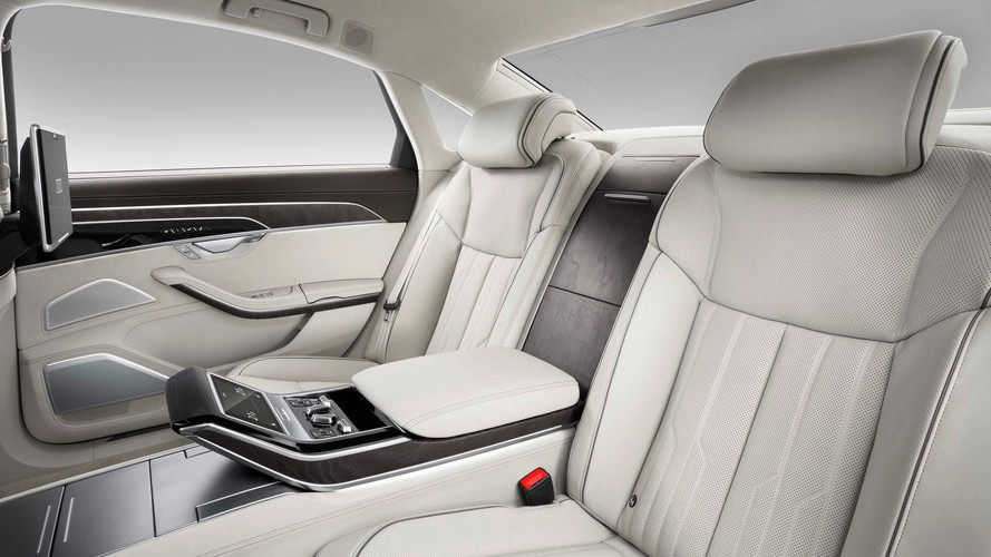 ... in the long-wheelbase A8 L. Relegated to the passenger side rear, the  relaxation seat provides various heating/cooling and massaging functions as  well ...