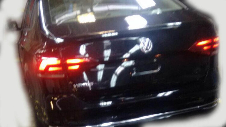 VW Virtus spy photos