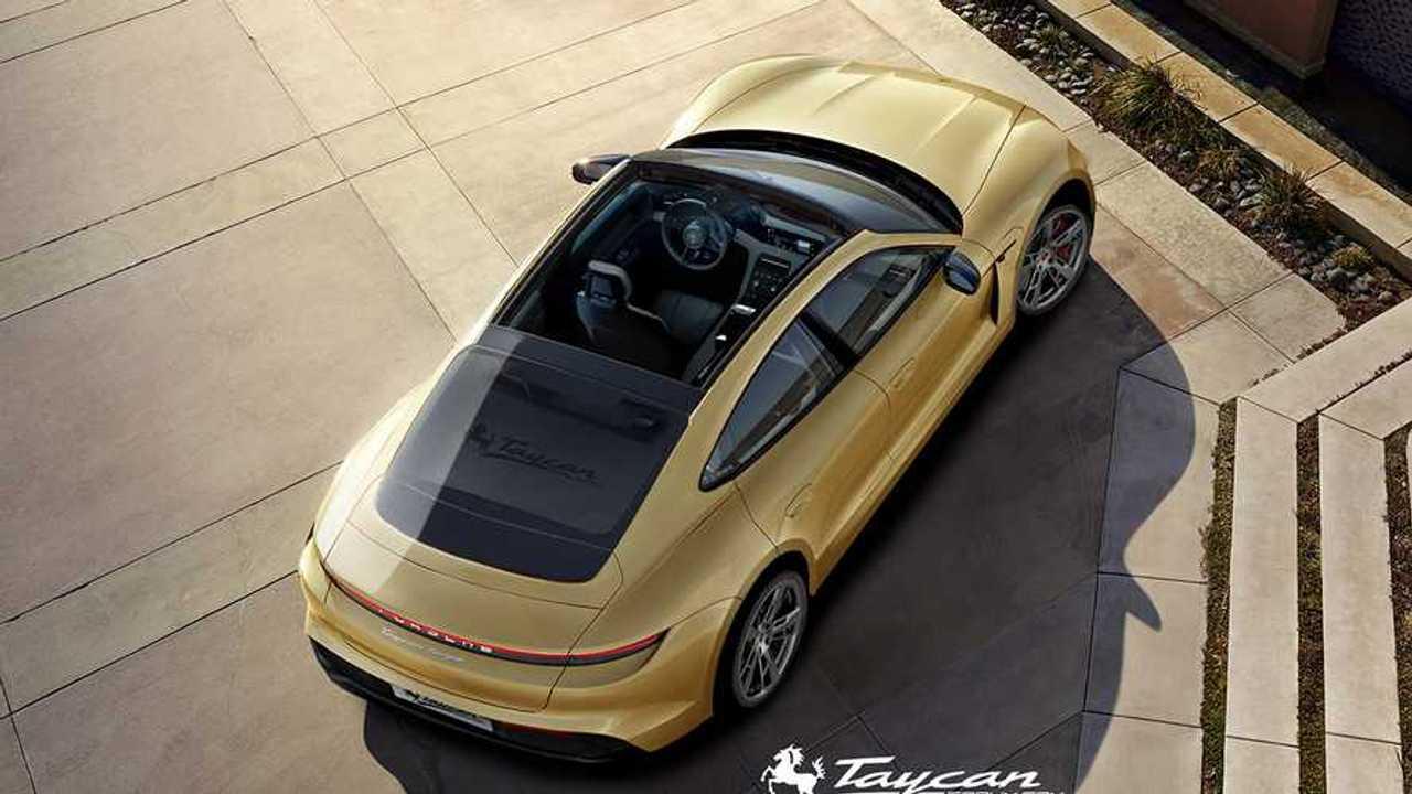 Porsche Taycan render