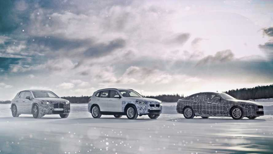 BMW previews iX3, i4 and iNext EVs in cold-weather teaser