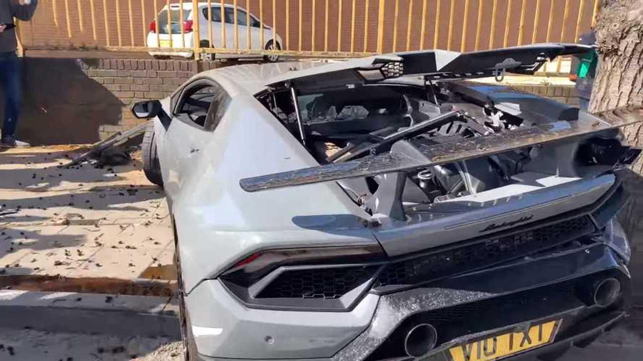 Lamborghini Huracan Performante baleset