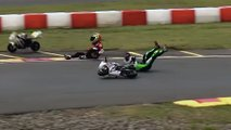 minibike racing video crash