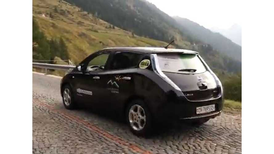 Video: EV Newbies Cross the Swiss Alps in Rented Nissan LEAF