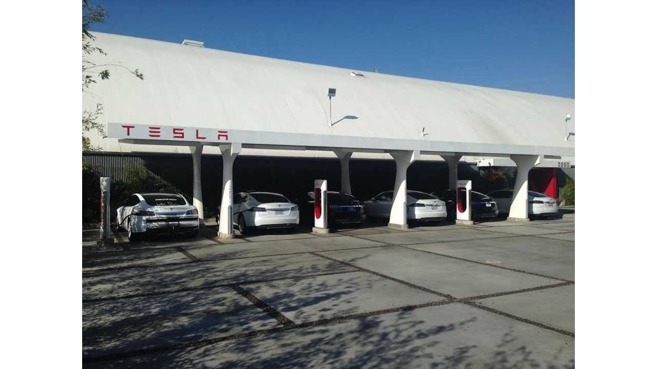 Tesla Model S Superchargers Offset 500,000 Gallons of Gas