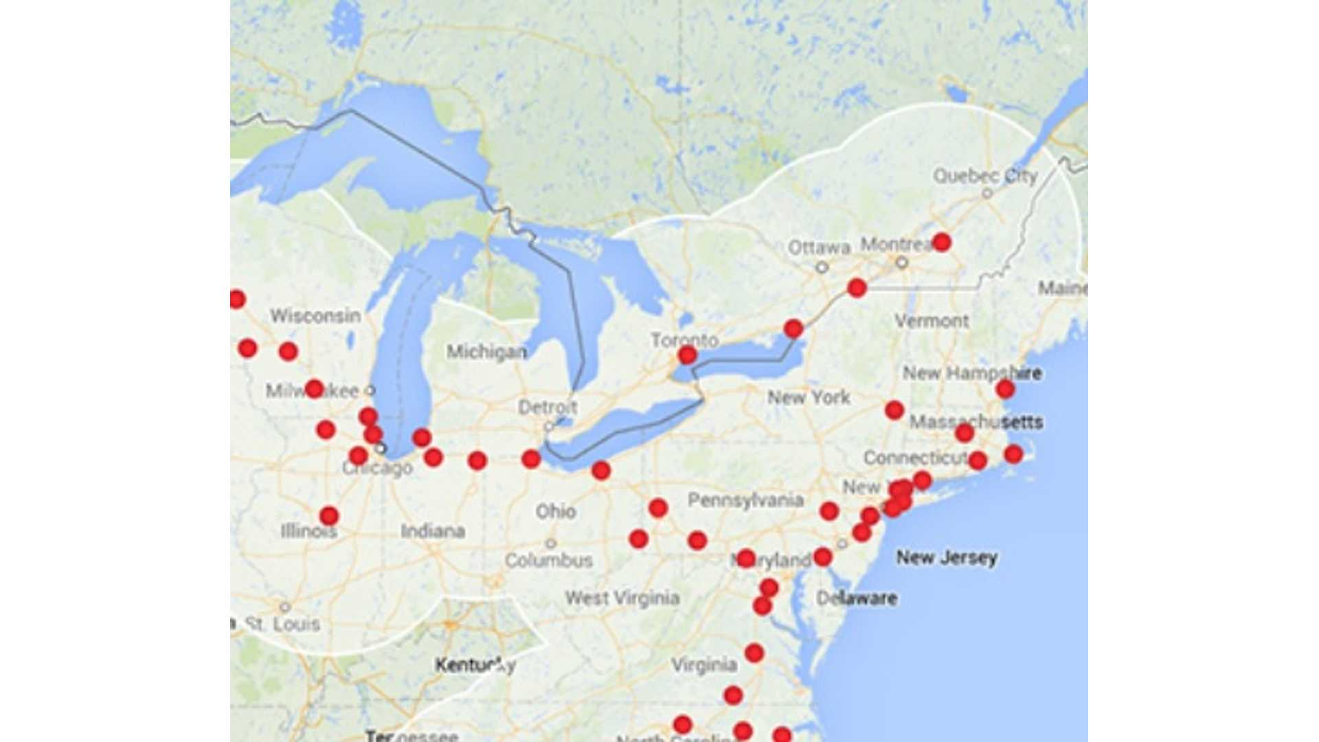 Tesla Supercharging Network In Canada Goes Live In 6 To 8 ...