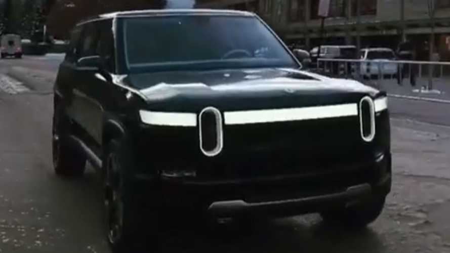 Watch Rivian R1S Electric SUV Roll On By