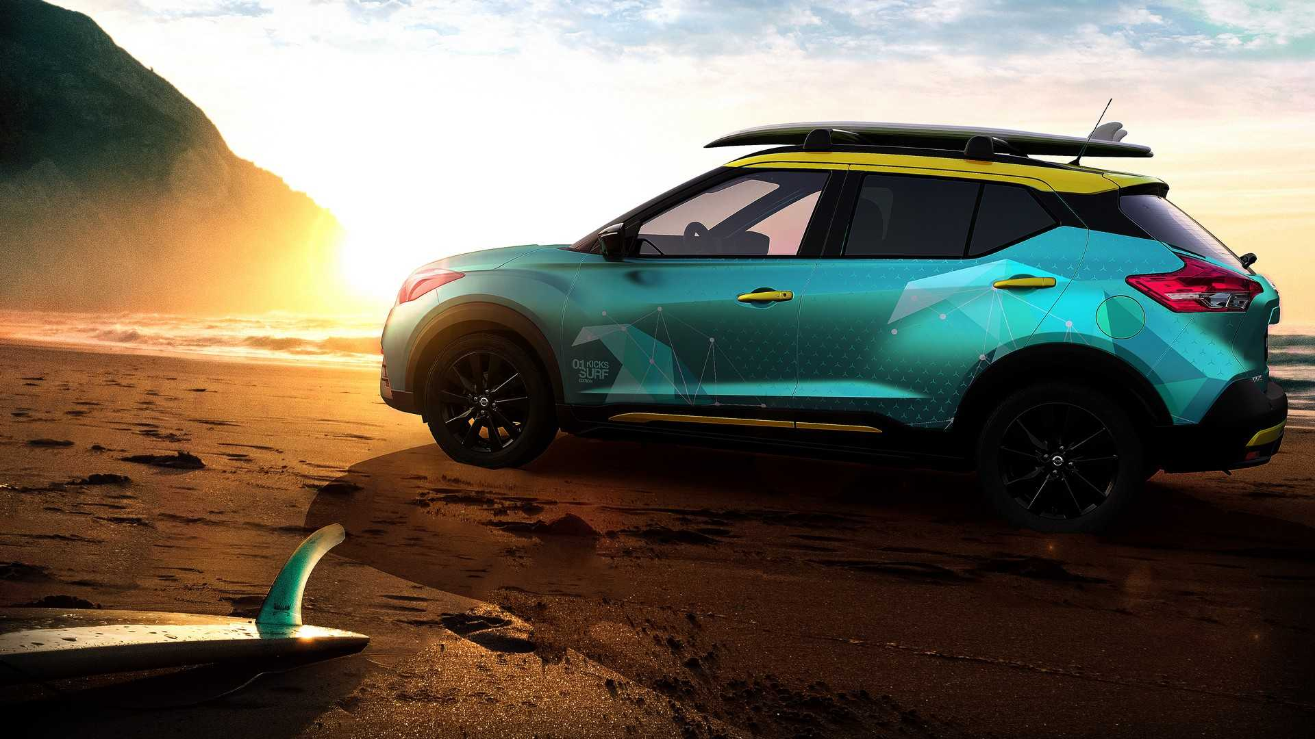 nissan kicks surf concept debuts with portable shower systemNissan Car Concept Kicks #3