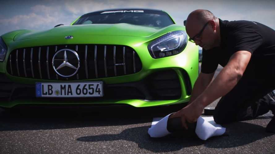 You can buy a bag that's been run over by an AMG GT R