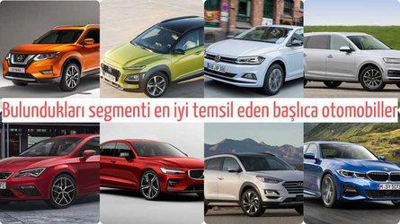 Bulundukları segmenti en iyi temsil eden başlıca otomobiller