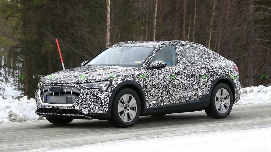 Audi E-Tron Sportback Electric Car Spied Winter Testing