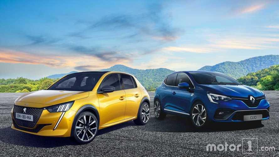 Peugeot 208 contro Renault Clio, la sfida a ruote ferme