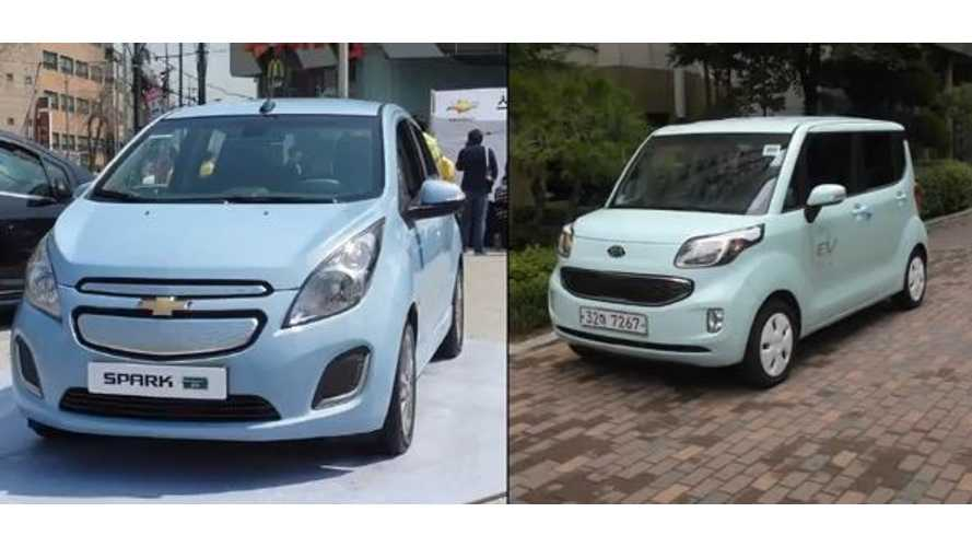 Video: Chevy Spark EV Versus Kia Ray EV in 0 to 62 MPH Showdown