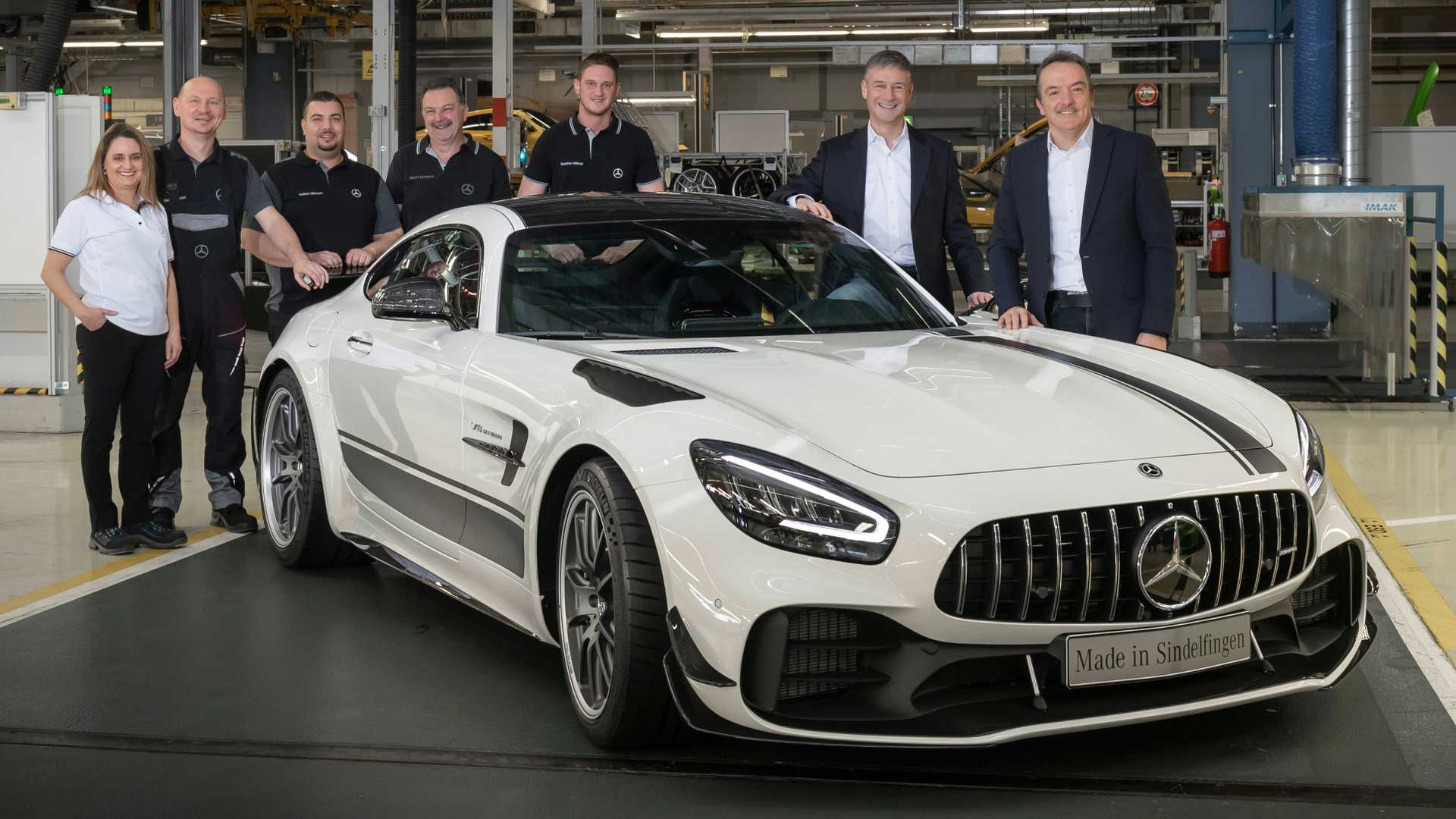 Amg Gt R >> Mercedes Amg Gt R Pro Enters Production Stripes Included