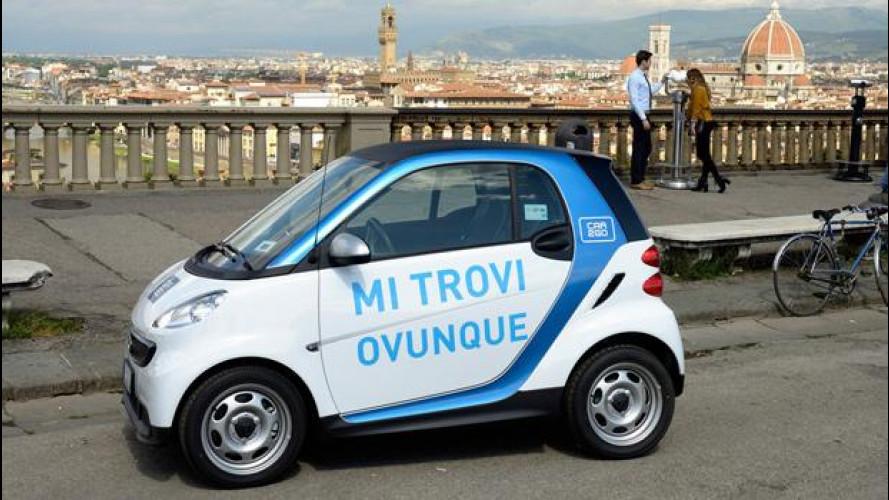 car2go festeggia 1 anno a Firenze con una promozione