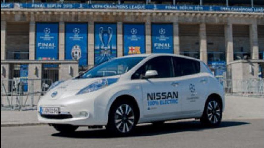 Nissan in Champions League con l'elettrico