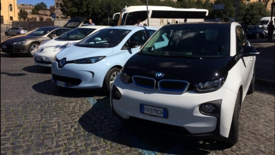 Mobilità elettrica, a Roma il 1° raduno interregionale [VIDEO]