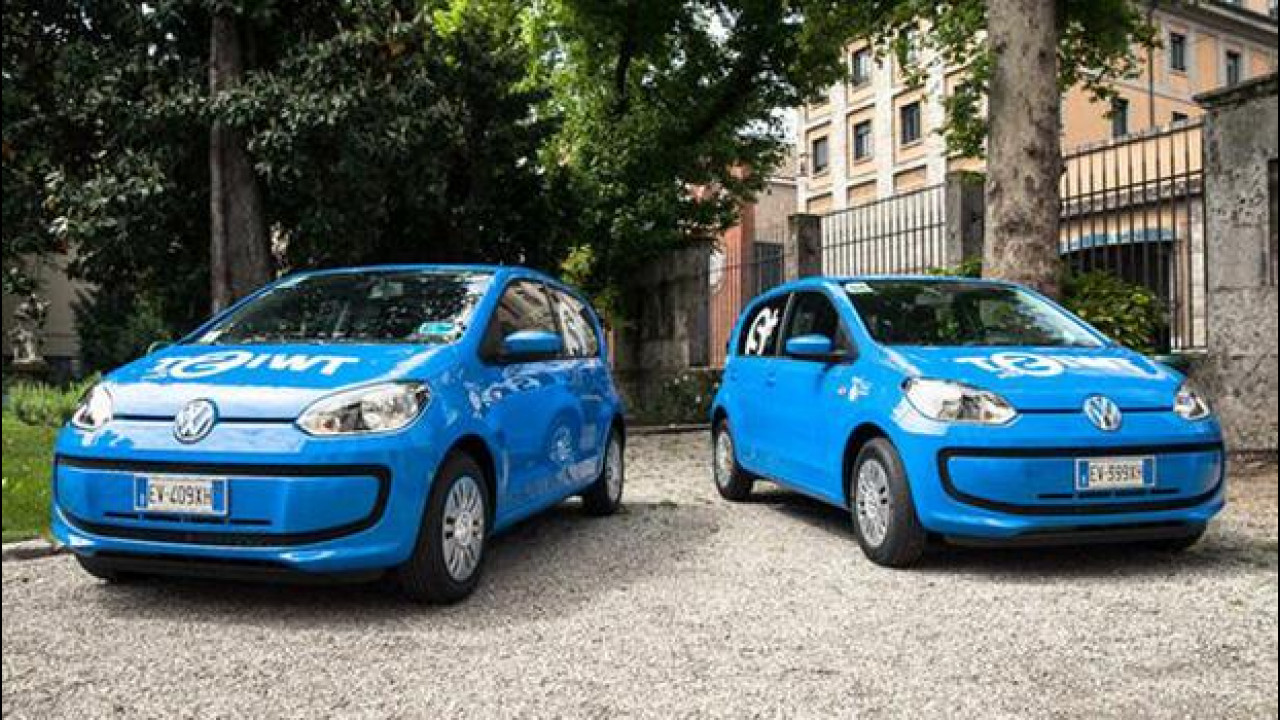 [Copertina] - Car sharing, a Milano sospeso Twist con le Volkswagen up!
