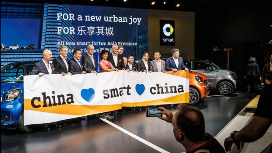 Salone di Shanghai, smart punta tutto sulla Cina