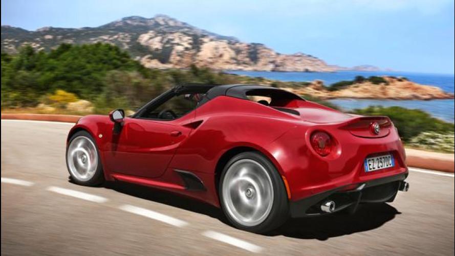 Alfa Romeo 4C Spider, astenersi deboli di cuore