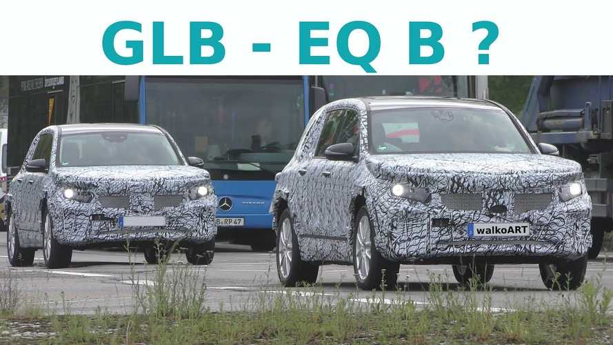 Mercedes-Benz EQB seen in camouflage - video