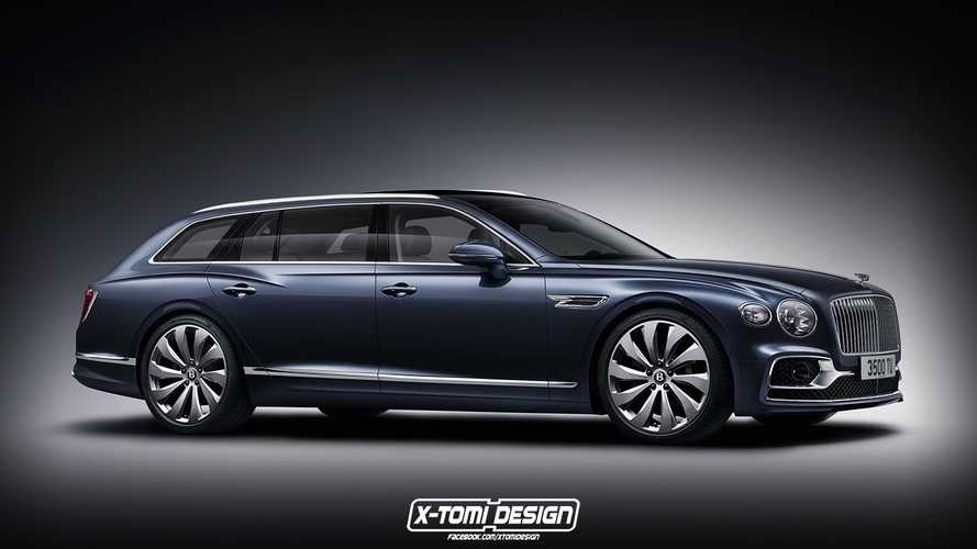 Bentley Flying Spur Wagon Rendered As The Bentayga Alternative