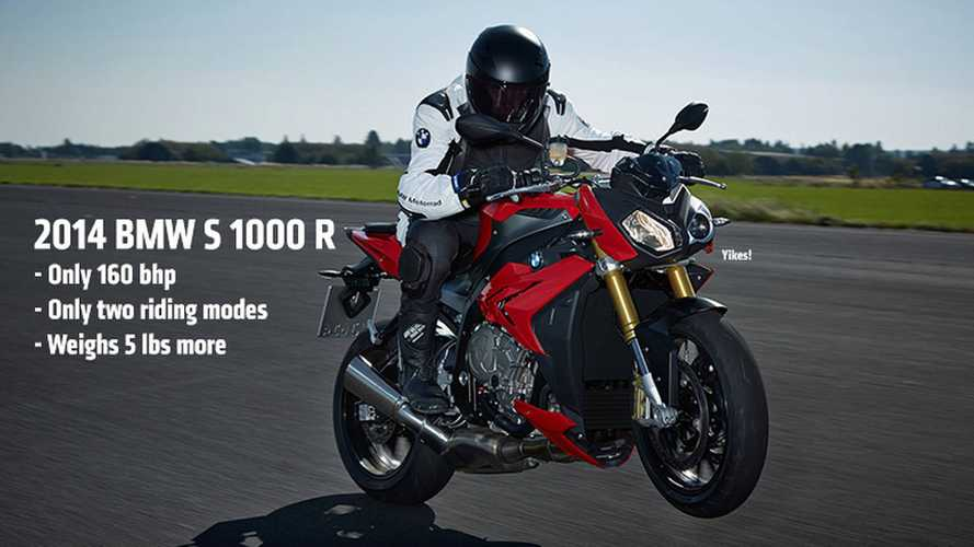 2014 BMW S 1000 R: Official Specs Reveal 160 HP
