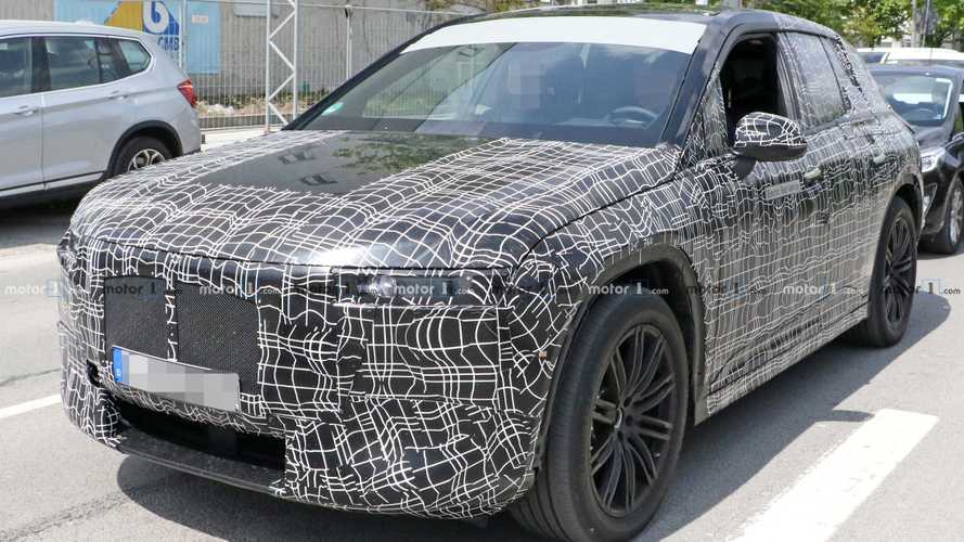 BMW's Electric SUV Spied Up Close With Interior Showing