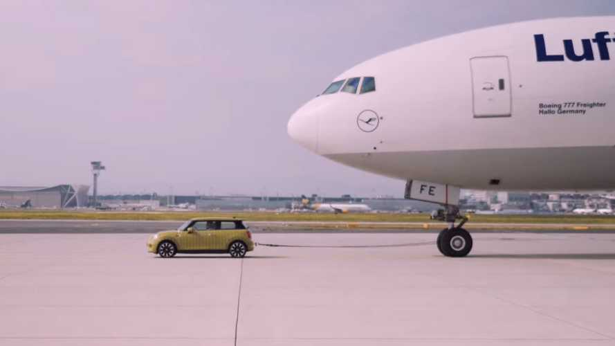 Watch Mini Electric pull a Boeing aircraft in new teaser Video
