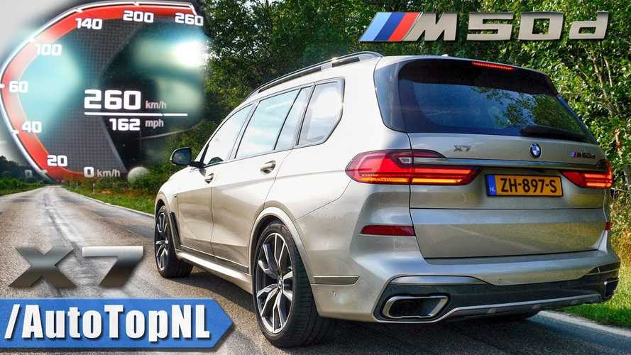 Watch the BMW X7 M50d do high speed run on the Autobahn
