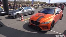Jaguar XE SV Project 8 Drag Racing Mercedes