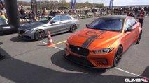 Jaguar XE SV Project 8 Drag Racing Mercedes