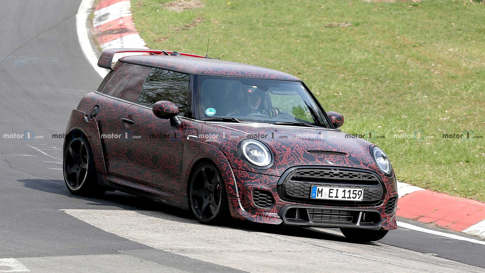 Mini Hardtop Jcw Gp Spied Angrily Running Around The Ring