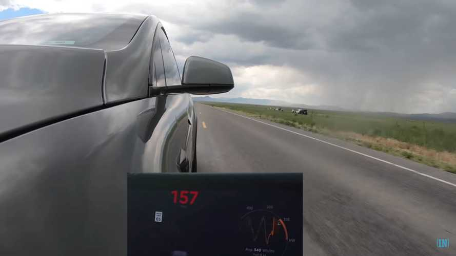 Driver Takes His Tesla Model X P100D To 163 MPH And Gets A Ticket