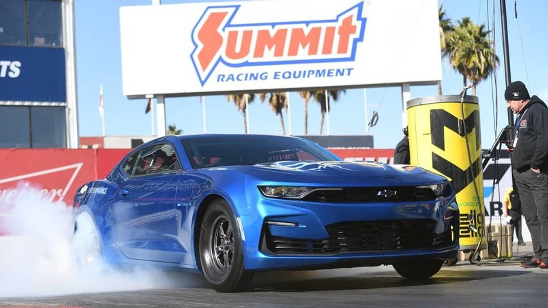 "[""GM Auctioning One-Off Electric COPO Camaro Drag Car At Monterey""]"