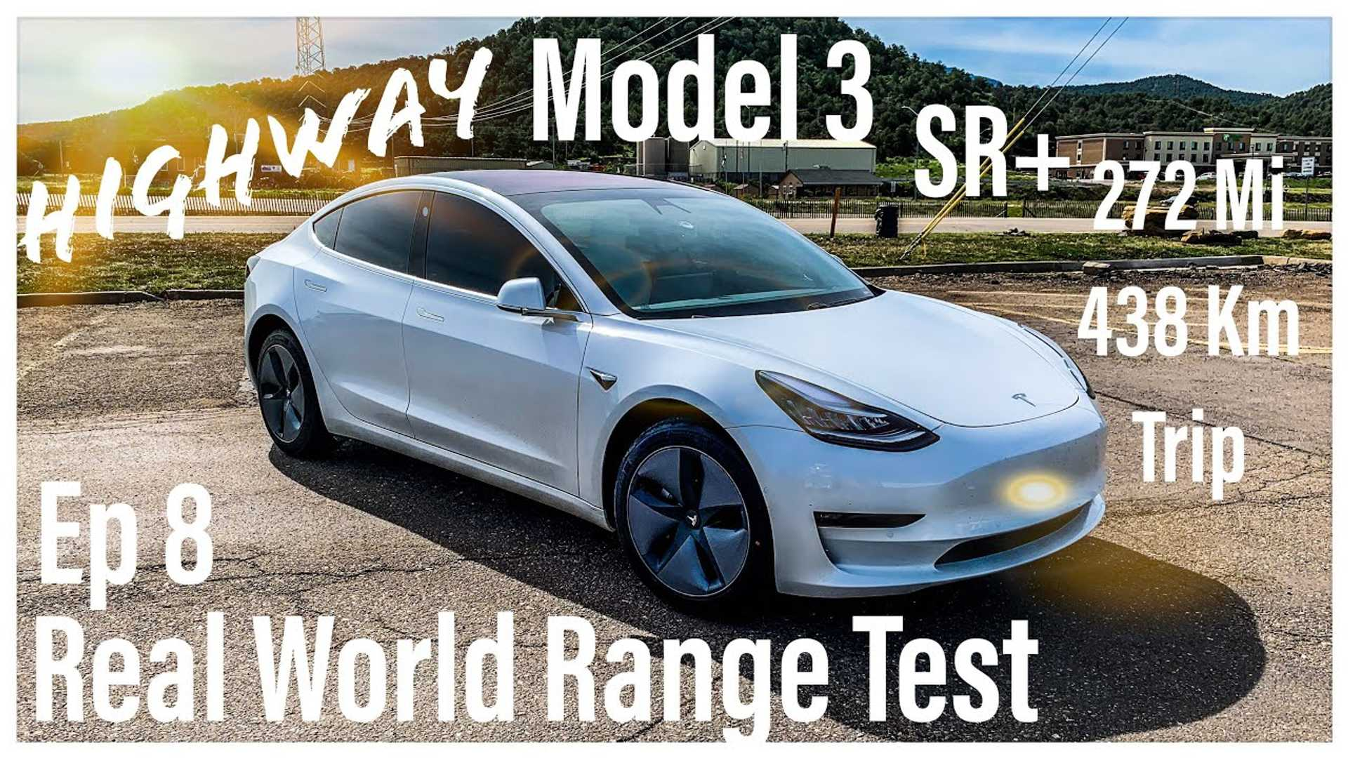Tesla Model 3 Standard Range Plus Real-World Highway Range Test