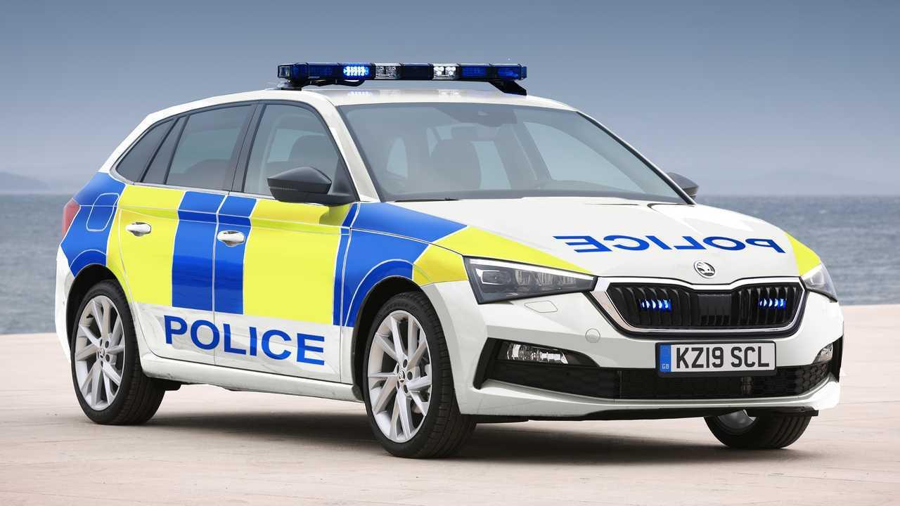 Skoda Scala police car