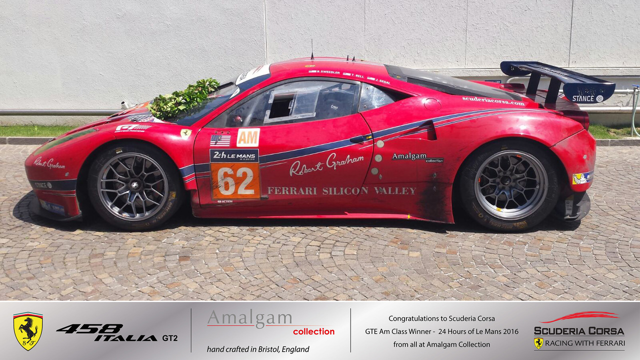 Ferrari Winning Team Plaque and car