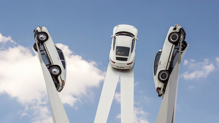 Porsche unveils their Inspiration 911 sculpture in Zuffenhausen, Germany