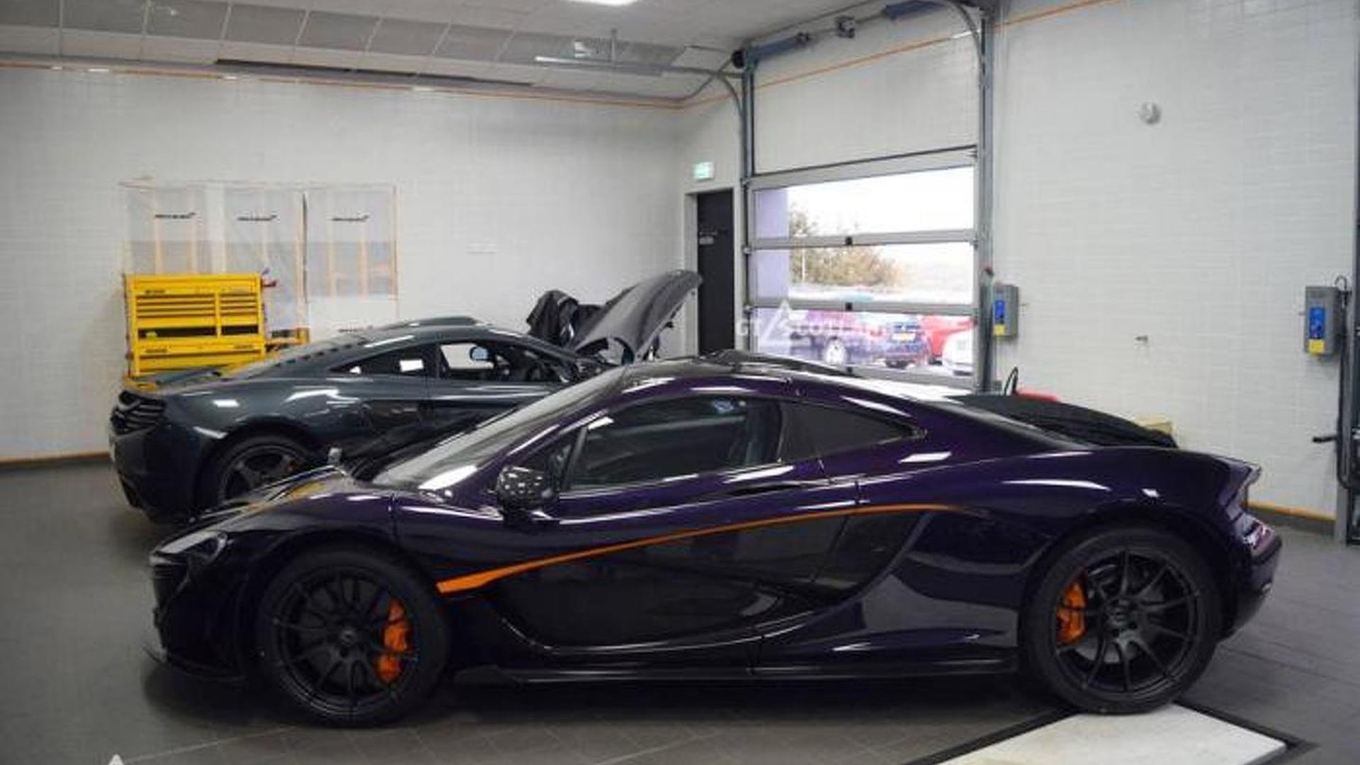 McLaren P1 s purple paint from MSO