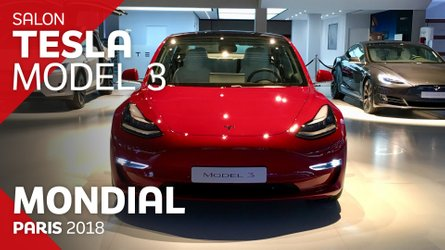 VIDÉO - La Tesla Model 3 en direct du Mondial de Paris