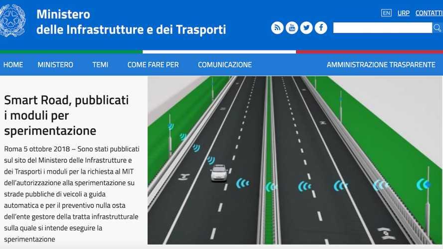 Guida autonoma, via libera dal Ministero per i test su strada