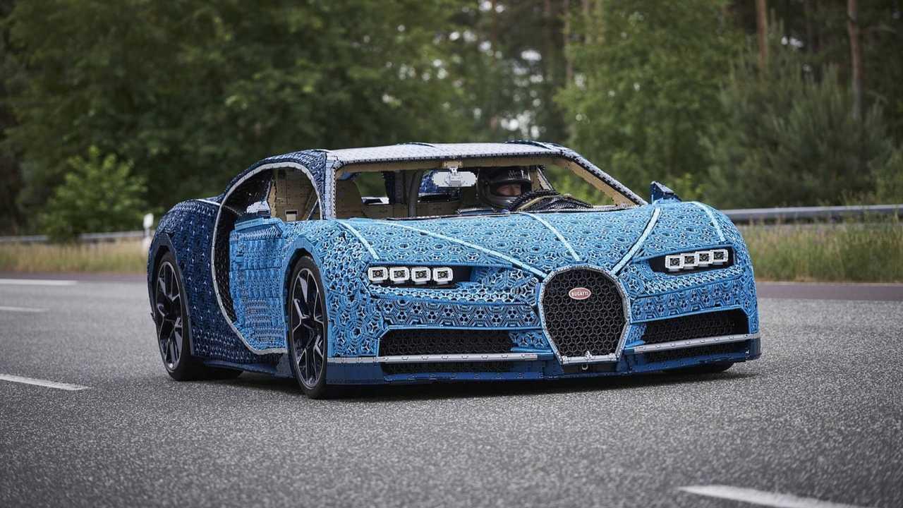 Bugatti Chiron als fahrbereites Lego-Modell