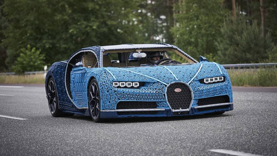 This Insane Life-Size Lego Technic Bugatti Chiron Is Drivable
