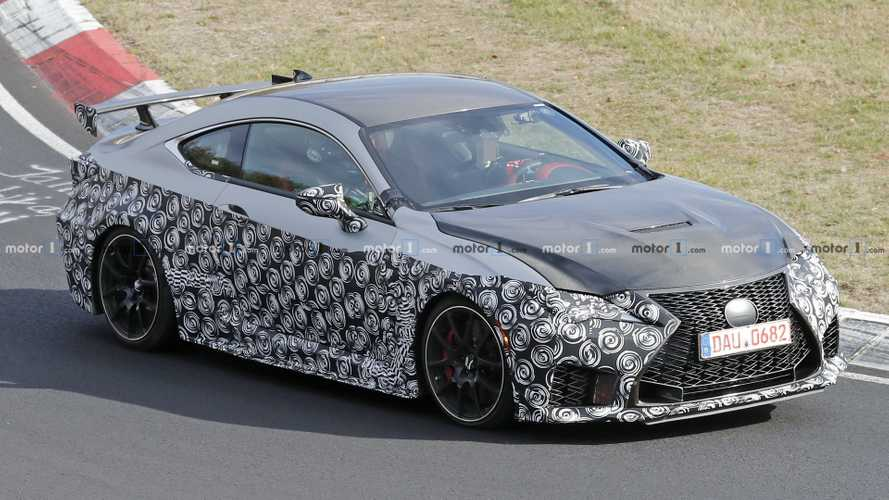 Lexus RC F GT Caught At The Nurburgring With Carbon Fiber Hood
