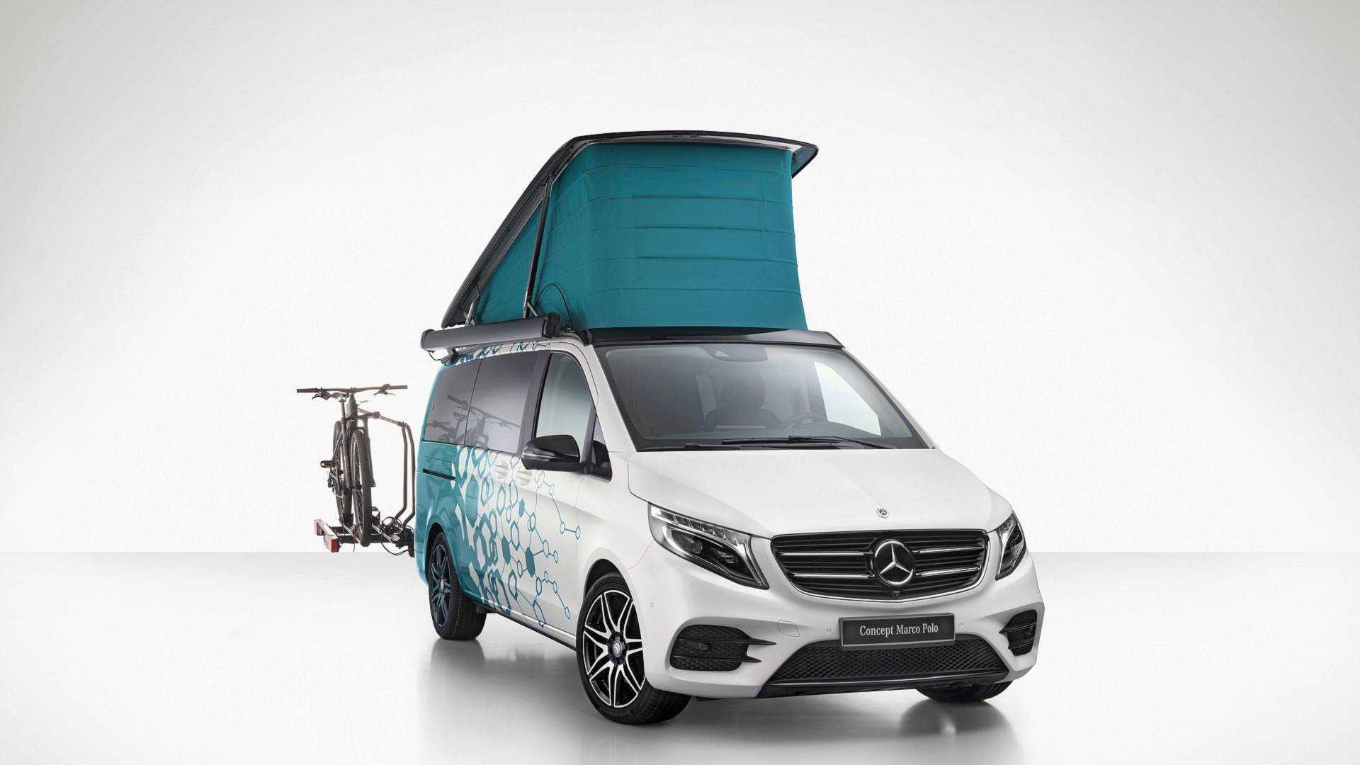mercedes shows off tech-heavy camper vans, fuel cell sprinter