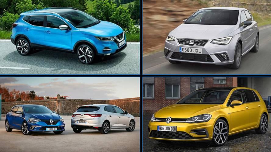 Estos son los 10 coches más vendidos en julio de 2018