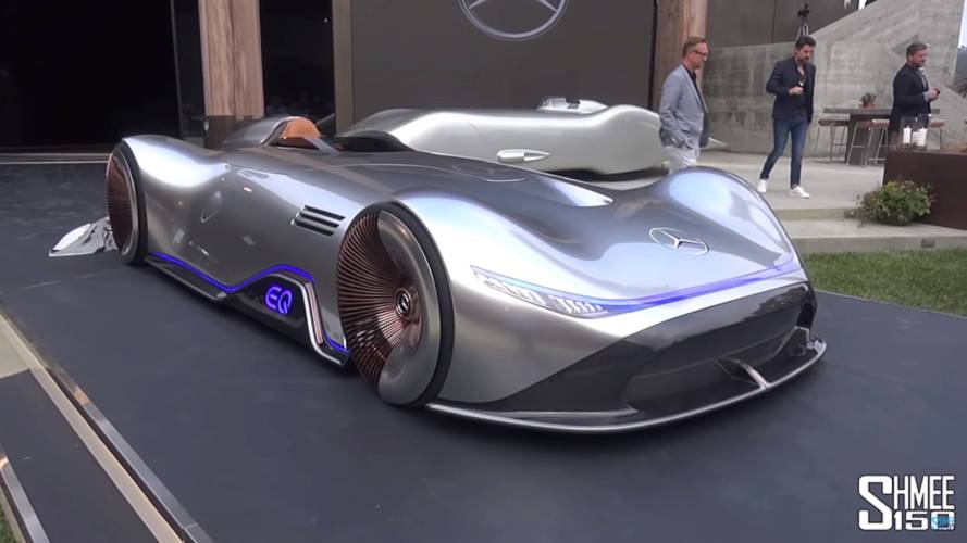 Mercedes EQ Silver Arrow Shows Off Its Unworldly Shape On Video