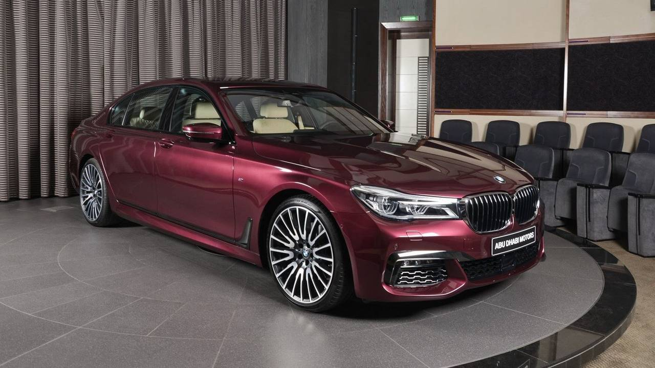 BMW 7 Series with Wildberry paint