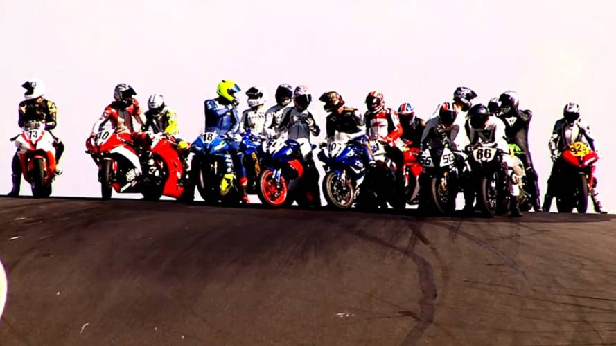Motorcycle racing, the video