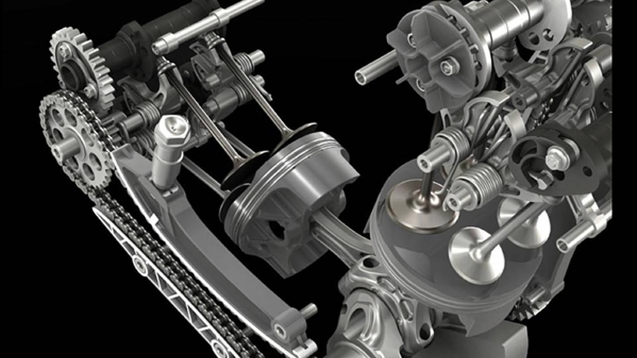 Ducati Superquadro: huge pistons, short stroke, 195hp, 15,000 mile service intervals